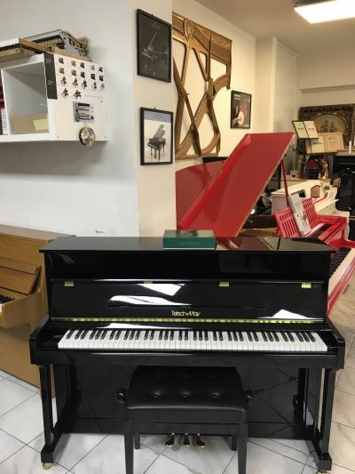 Černé pianino TETSCH & MAY sezárukou.
