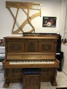 Krásný klavír po opravě, se zárukou a doprava zdarma