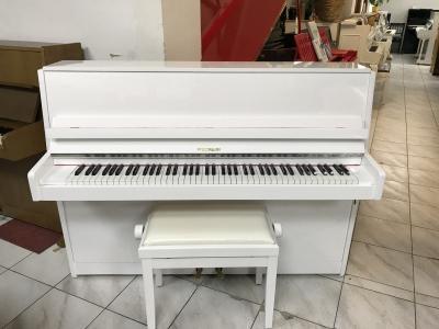 Bílé pianino Hoffmann s novou židlí, doprava zdarma