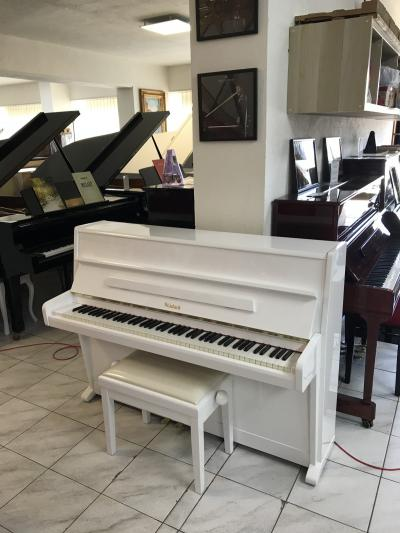 Krásné bílé pianino Weinbach sezárukou 2 roky