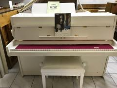 Bílé pianino Yamaha se zárukou 2roky, doprava zdarma