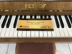 Pianino Petrof Klasik 114 sezárukou.