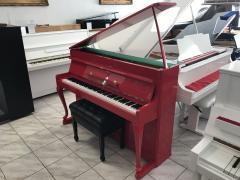 Červené pianino po opravě, záruka 2roky.