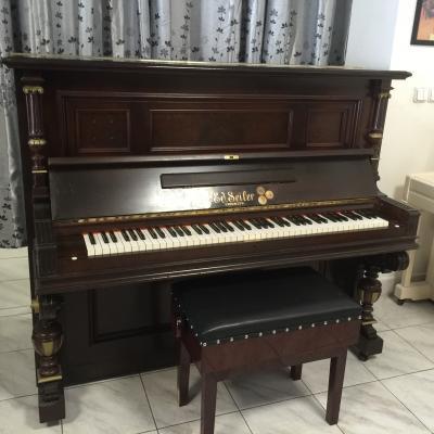 Krásné pianino Ed. Seiler , sezárukou, doprava zdarma