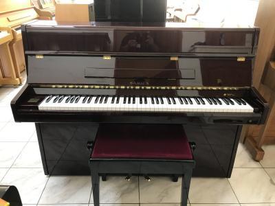 Pianino Samick model S108 sezárukou, včetně klavírní židle