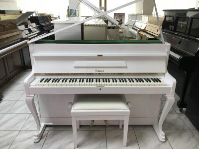 Bílé pianino Weinbach - Petrof vevelmi dobrém stavu