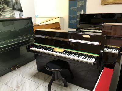 Pianino W. Hoffmann - C. Bechstein, metalická hnědá, Renner mechanika