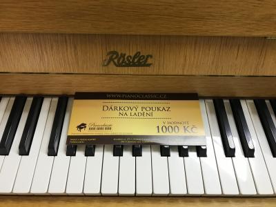 Pianino Rösler vzáruce, včetně nové klavírní židle, 1.ladění zdarma