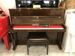 Zánovní pianino Petrof model 117 P1, rok výroby 2001, záruka 5 let.