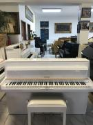 Bílé pianino s židlí, doprava zdarma, RENNER mechanika.