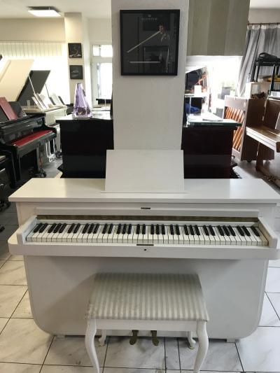 Malé akustické pianino s židlí, doprava zdarma.