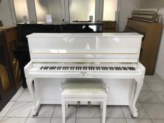 Bílé pianino Schimel v záruce, doprava do 100 km zdarma
