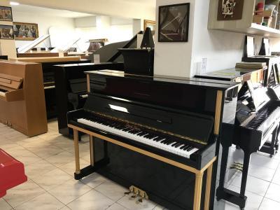 Zelené pianino Pearl River model UP120M1 sezárukou
