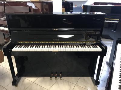 Zánovní pianino Petrof model P 118, první majitel, záruka 5 let, nová italská židle.